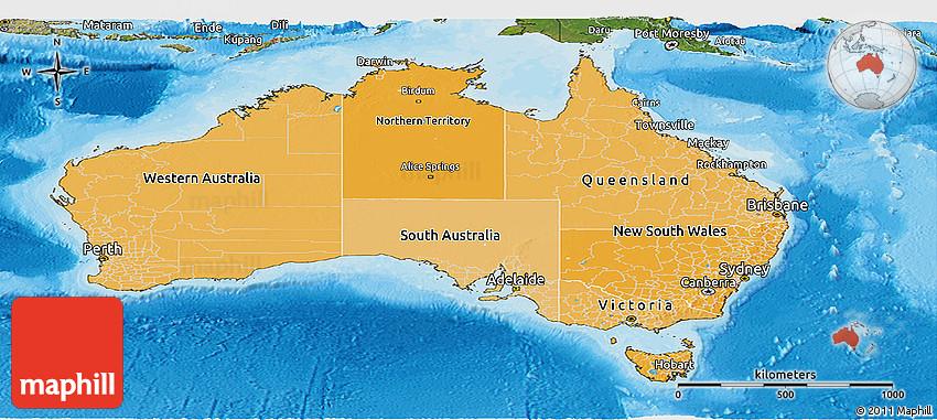 Political Shades Panoramic Map of Australia, satellite ... on map of coffs harbour australia, map of perth western australia, map of thredbo australia, map of flinders island australia, map of exmouth australia, map of great ocean road australia, map of kakadu australia, physical map of australia, map of great dividing range australia, map of albany australia, map of heron island australia, map of katoomba australia, map of wellington australia, map of australia with cities, map of the kimberley australia, map of lake eyre australia, map of cooktown australia, map of christchurch australia, map of port augusta australia, map of hobart australia,