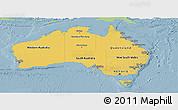 Savanna Style Panoramic Map of Australia, single color outside