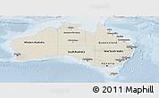 Shaded Relief Panoramic Map of Australia, lighten