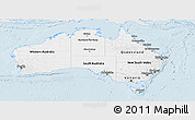 Silver Style Panoramic Map of Australia, single color outside