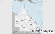 Gray 3D Map of Queensland