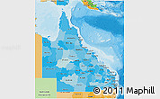 Political Shades 3D Map of Queensland