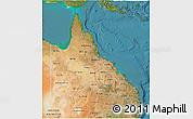 Satellite 3D Map of Queensland