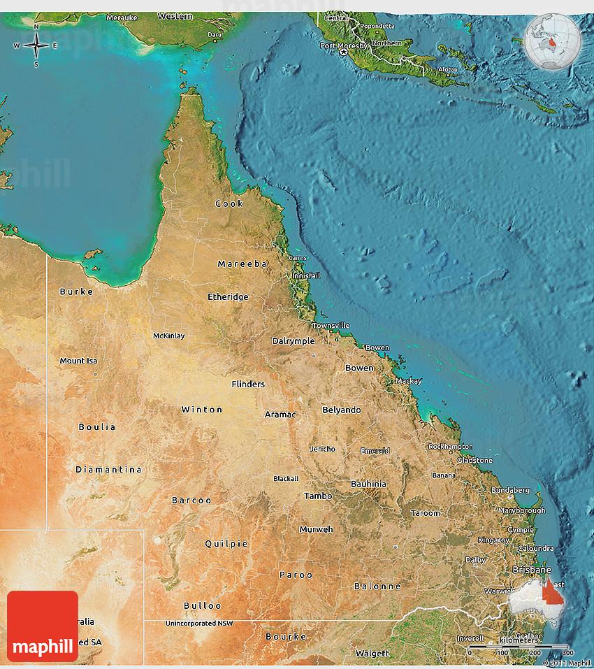 Satellite D Map Of Queensland - Google 3d satellite map