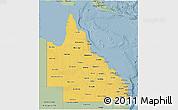Savanna Style 3D Map of Queensland