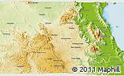 Physical 3D Map of Atherton