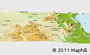 Physical Panoramic Map of Atherton