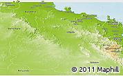 Physical Panoramic Map of Bowen
