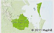 Physical 3D Map of Brisbane, lighten
