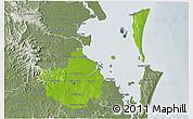 Physical 3D Map of Brisbane, semi-desaturated
