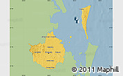 Savanna Style Map of Brisbane, single color outside