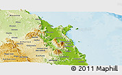 Physical Panoramic Map of Cairns
