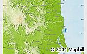 Physical Map of Caloundra