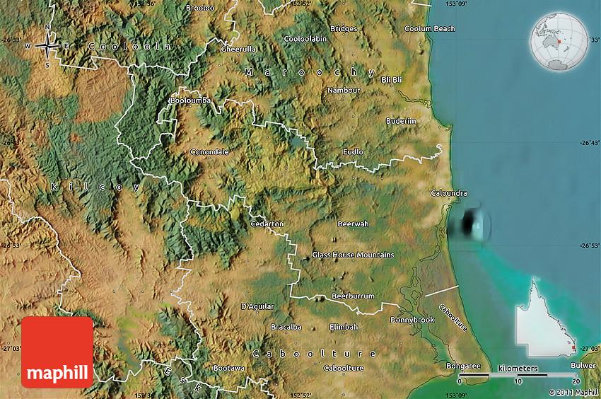 satellite map of caloundra