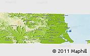 Physical Panoramic Map of Caloundra