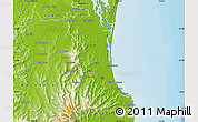 Physical Map of Gold Coast