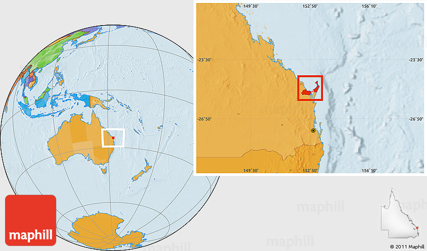 Political Location Map Of Hervey Bay Free map hervey bay online. political location map of hervey bay