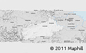 Silver Style Panoramic Map of Ipswich