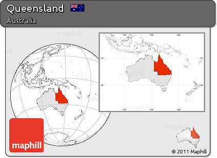 Map Of Australia Highlighting Queensland.Free Blank Location Map Of Queensland Highlighted Country Within