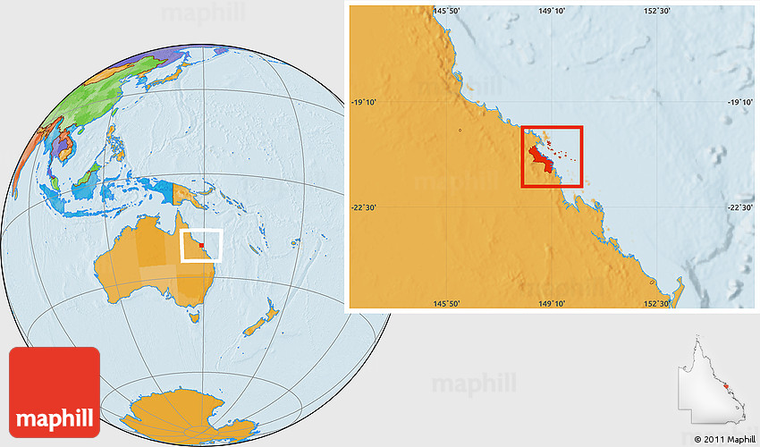 Mckay Australia Map.Political Location Map Of Mackay