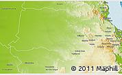 Physical 3D Map of Mareeba