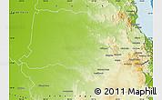 Physical Map of Mareeba