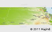 Physical Panoramic Map of Mareeba
