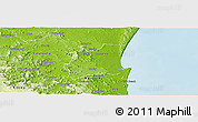 Physical Panoramic Map of Noosa