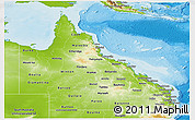 Physical Panoramic Map of Queensland