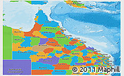 Political Panoramic Map of Queensland