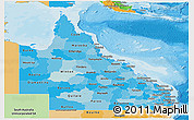 Political Shades Panoramic Map of Queensland