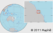 Gray Location Map of Rockhampton