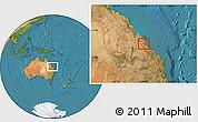 Satellite Location Map of Rockhampton