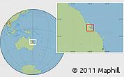 Savanna Style Location Map of Rockhampton