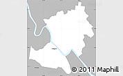 Gray Simple Map of Rockhampton