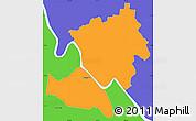 Political Simple Map of Rockhampton
