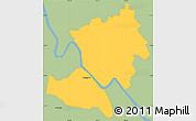 Savanna Style Simple Map of Rockhampton