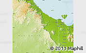 Physical Map of Thuringowa
