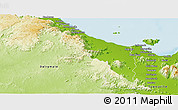 Physical Panoramic Map of Thuringowa