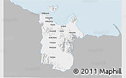 Gray 3D Map of Townsville, single color outside