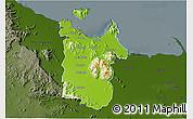 Physical 3D Map of Townsville, darken