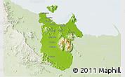 Physical 3D Map of Townsville, lighten