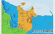 Political 3D Map of Townsville
