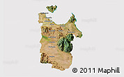 Satellite 3D Map of Townsville, cropped outside