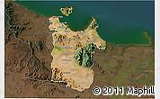 Satellite 3D Map of Townsville, darken