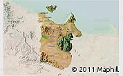 Satellite 3D Map of Townsville, lighten