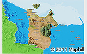 Satellite 3D Map of Townsville, political outside