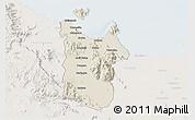 Shaded Relief 3D Map of Townsville, lighten