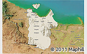 Shaded Relief 3D Map of Townsville, satellite outside