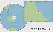 Savanna Style Location Map of Townsville